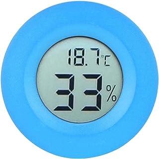 Luftfuktighetsmätare, cirkulär hög noggrannhet Inbyggd inomhus - 50 - +70 ° C för kylskåp för displayskåp(blue)