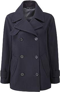 7e9b84736c8 Original Montgomery Womens Fashion Classic Wool Double Breasted Pea Coat