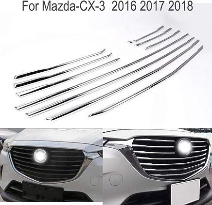 10 piezas cromado para rejilla central delantera del coche cubierta de moldeado insertar tapas Para CX3