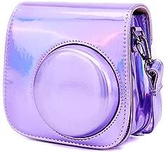 Camera Case for Fujifilm Instax Mini Mini Mini Instant Camera  Annle Leather Protective Case with Removable Strap  Bright Purple
