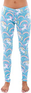 Women's Pastel Blue Rainbow Unicorn Leggings