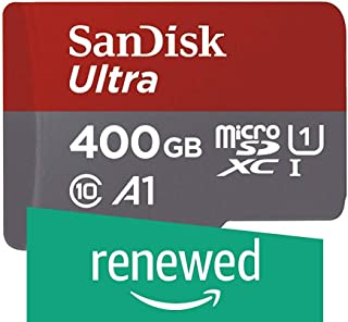 SanDisk Ultra 400GB microSDXC UHS-I card with Adapter - SDSQUAR-400G-GN6MA (Renewed)