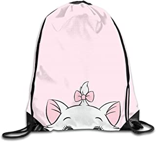 LIUYAN Drawstring Backpack Cute Hello Kitty Rucksack Shoulder Bags Lightweight Backpack for Men Women