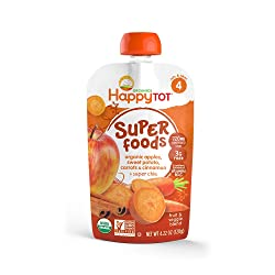 Happy Tots Sweet Potato, Apple, Carrot & Cinnamon, 4.22 oz