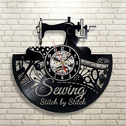 Gullei.com Reloj de pared de vinilo con tema de costura para Taylor