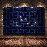 Drucken Klassisches Spiel Pac-Man Wandkunst Leinwand