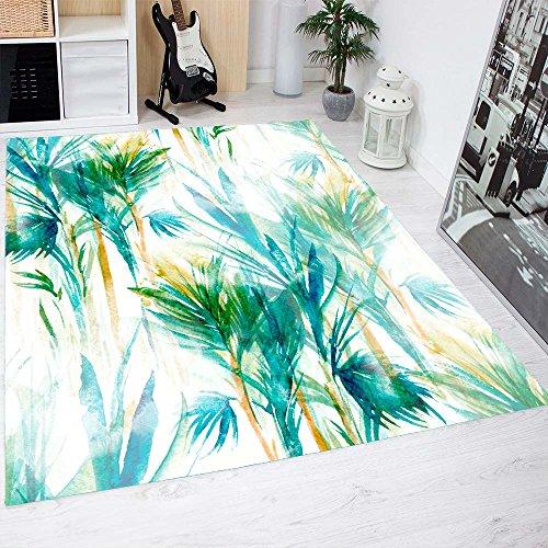 Oedim Alfombra Ramas Verdes PVC 95 cm x 165 cm | Moqueta PVC | Suelo vinilico | Decoración del Hogar