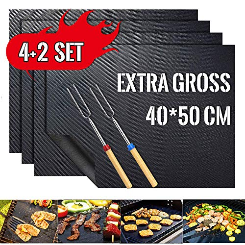 professionnel comparateur Tapis de cuisson pour grils et fours – 40 * 50 cm.  Un ensemble de 4 tapis de grill et 2 pâtisseries… choix