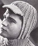 Knitted Visor Helmet Hood for Men and Women Vintage Knitting Hat Cap Pattern (English Edition)