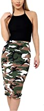 MA ONLINE Ladies Printed High Waist Bodycon Pencil Skirt Womens Stretchy Casual Midi Skirt Small/XXX-Large