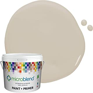 Microblend Interior Paint and Primer - Beige/Aged Linen, Semi-gloss Sheen, 1-Gallon, Premium Quality, One Coat Hide, Low V...