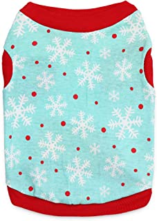 MeowWow Dog Christmas Shirt Pet Xmas Clothes Puppy Holiday T Shirt for Small Dogs, XS