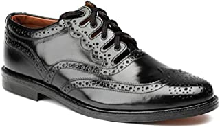 Leather Ghillie Brogue Kilt Shoes Traditional Scottish Piper and Highland Outfit Wedding Shoes Featuring Extra Long Laces & Leather Tassels Style –Eco with Rubber Sole Color - Black Sizes -7-15