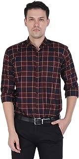Tryme Fashion Men's Cotton Casual Checks Shirt for Men Full Sleeves