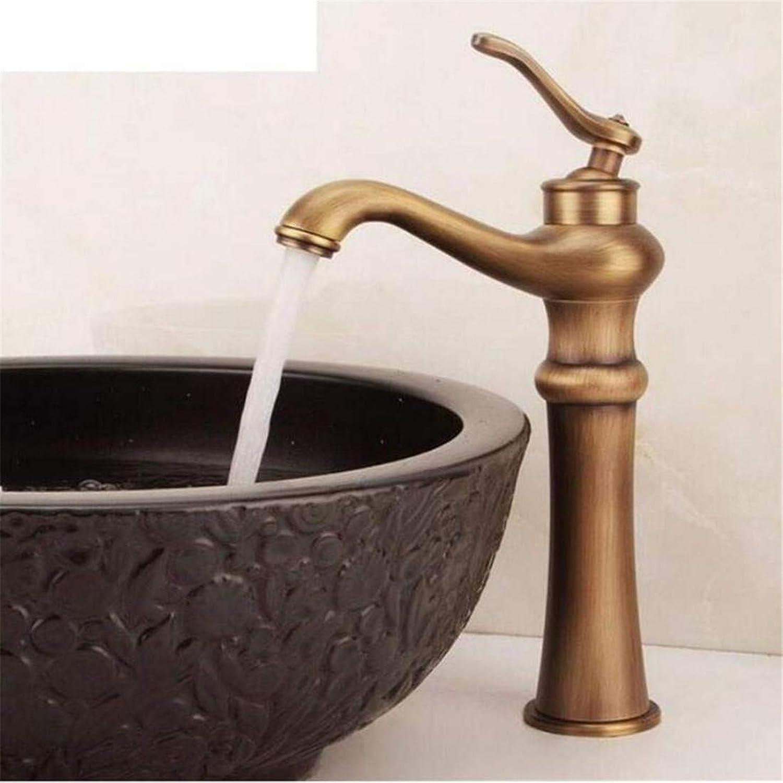 Retro Heier Und Kalter Wasserhahn Mixer Luxusüberzugarmaturen Waschtischmischer Einhand Antik Messing Badezimmer Vanity Sink Toilette Wasserhahn