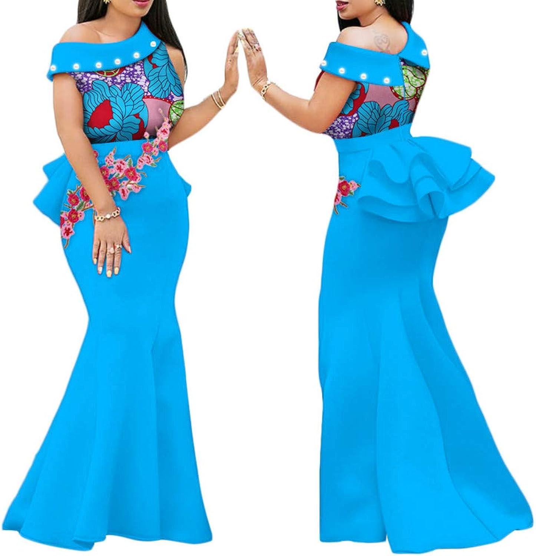 African national waxcloth printed long skirt
