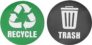 needlid Autocollant de Recyclage réutilisable, Autocollant de Signe de Poubelle, décoration de la Maison environnementale ...