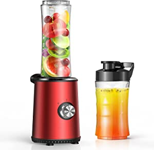 Smoothie Blender for Shakes and Smoothies with 3 Blending Modes, Personal Countertop Blender with 10oz & 20oz Tritan Portable Travel Bottles