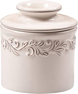 Butter Bell - The Original Butter Bell Crock by L. Tremain, French Ceramic Butter Dish, Antique Collection, White Linen
