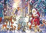 Ravensburger puzzle - Navidad en el bosque Puzzle 100 Pz XXL, Puzzle para niños