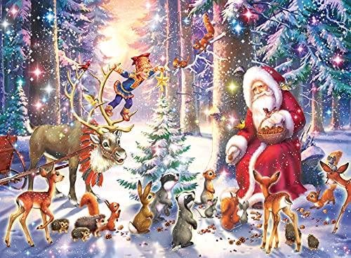 Ravensburger Puzzle Natale nella foresta Puzzle 100 pz. XXL Puzzle per Bambini