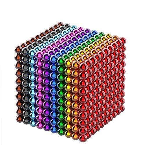 GOOCO Bola mágica 3D, 3mm Juguetes de Rompecabezas mágico Juguetes Descompresión Desarrollo Inteligente Juguetes Regalo Ideales, Rompecabezas de Colores (10 Colores), 1000 partículas