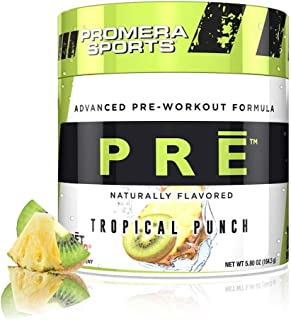 Promera Sports Advanced Pre-Workout Formula for Endurance, Energy, & Focus, Tropical Punch, 20 Servings