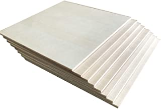 """3mm 1/8"""" ×6 inch ×6 inch Unfinished Basswood Sheet, Thin Plywood Sheet for Wood Burning Project"""