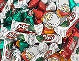 Hershey's Christmas Wrap Candy Bar Assortment - KitKat Milk Chocolate Miniatures, Kisses Milk Chocolate, Reese's Santa's, 3 Pound Bag