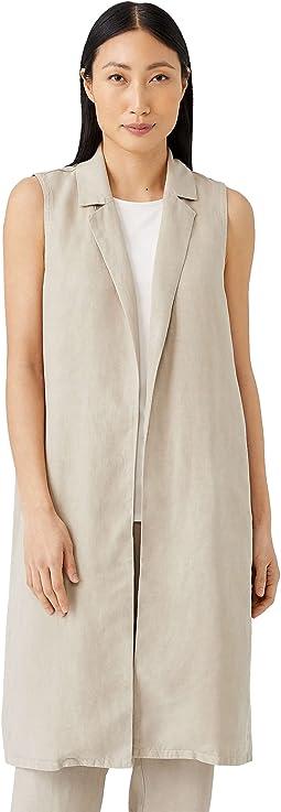 Knee Length Vest in Tencel & Linen