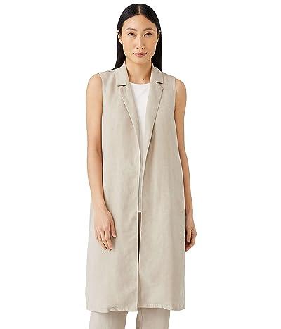 Eileen Fisher Knee Length Vest in Tencel Linen