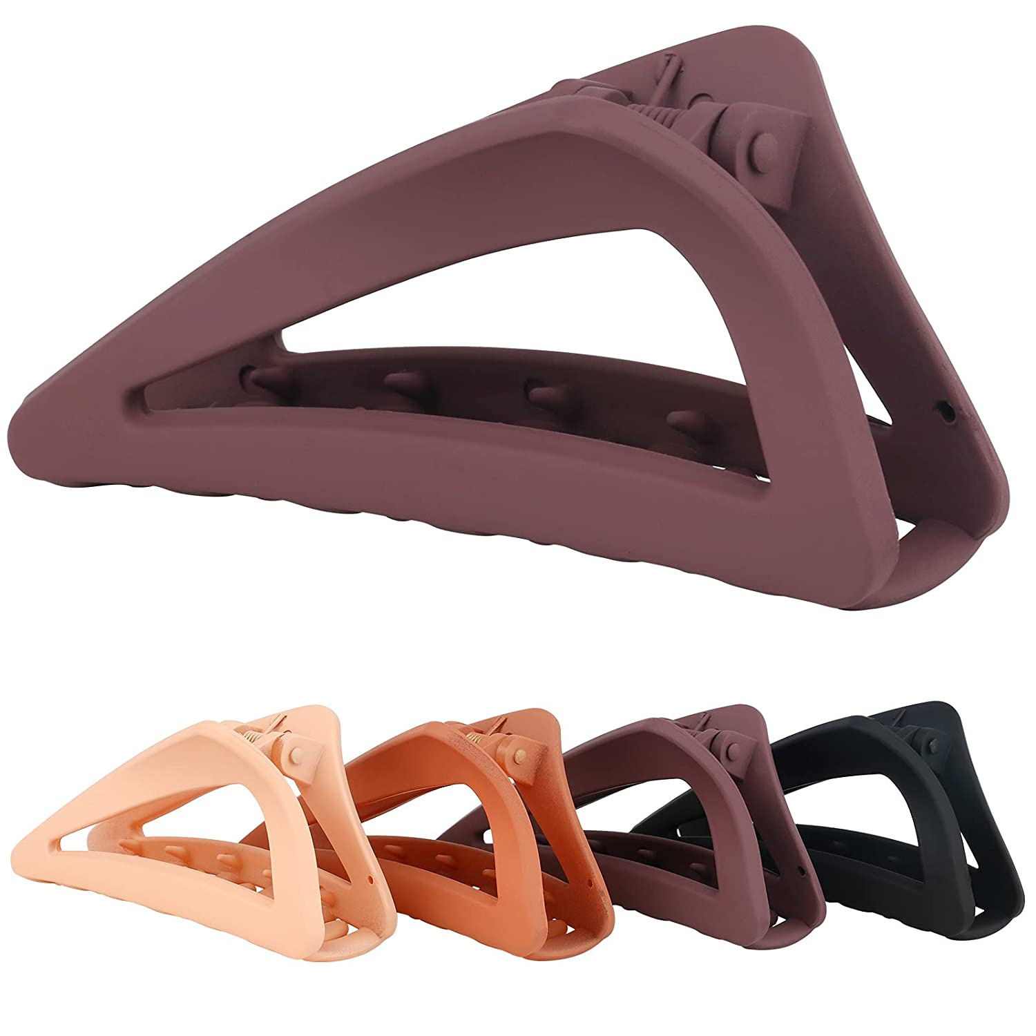 PAWOAH Opening large release sale 5 popular Triangle Hair Claw Clips Women Slip Th for Non