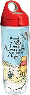 Tervis 1269237 Disney - Winnie the Pooh Adventure Insulated Tumbler with Wrap and Red with Gray Lid, 24 oz Water Bottle
