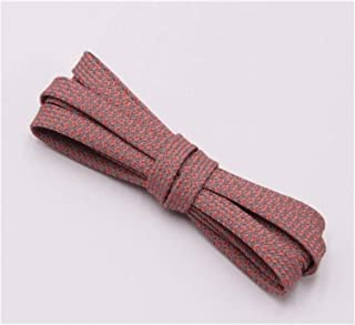 FDBHA Shoelace Runners Woven Belt Sports Safety Shoelaces Shoelaces for Running Shoes (Color : 318 Dark Pink 3M, Size : 70cm)