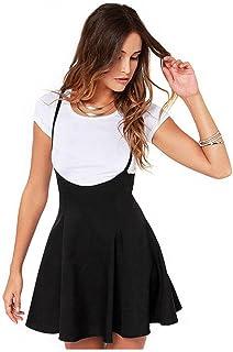 Vestidos Mujer Casual Verano 2018, Mujeres de Moda Falda Negro con Correas de Hombro Vestido Plisado
