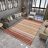 Color gradiente Color Costura Retro patrón étnico Arte sofá Dormitorio Sala de Estar Cama casa de Noche alfombra-100x160cm Calidad Precio relación demás Limpiar salón