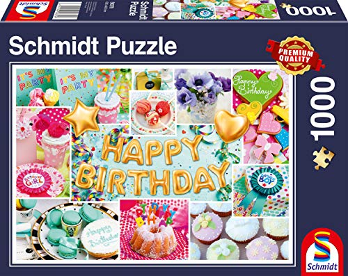 Schmidt Spiele Puzzle 58379 Happy Birthday, 1000 Teile Puzzle, bunt