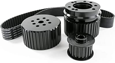 A-Team Performance 302-351w Gilmer Style Pulley Kit V8 Engine Compatible with Ford SB Small Block SBF Black