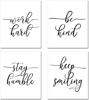 GEEDUO Inspirational Quote&Saying Art Painting for Wall Art Paper Print Picture Motivational Phrases Wall Posters for Offi...