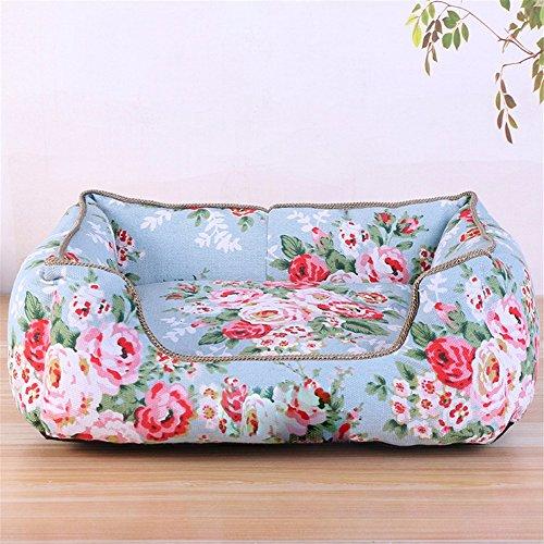 Pet Online Hund Schlafsofa nest gebrochene Blume pastorale Wind komfortabel pet bed, M: 50 * 40 cm.