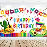 Fiesta design: Mexican Fiesta theme birthday backdrop banner is printed with the guitar, cactus and other fiesta elements in vivid colors, which is a beautiful and eye-catching party decoration, making the birthday party impressive and unforgettable;...