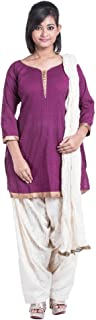 Cynthia's Fashion, CFK260_CPT_ST, Cotton Printek, Patiala Suit, Straight Cut Kurta with 3/4 Sleeves attached, Cotton Brasso Patiala and Dupatta Set