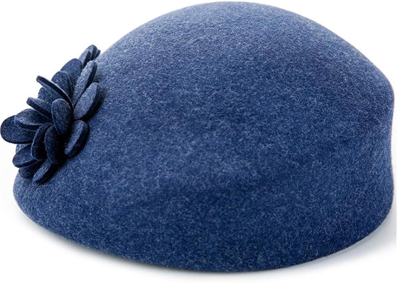 Wool Felt Cloche Fedora Beret Hat for Ladies Church Church Bowler Hats Derby Party Fashion Winter Women Casual Soft Classic Cap Fashion