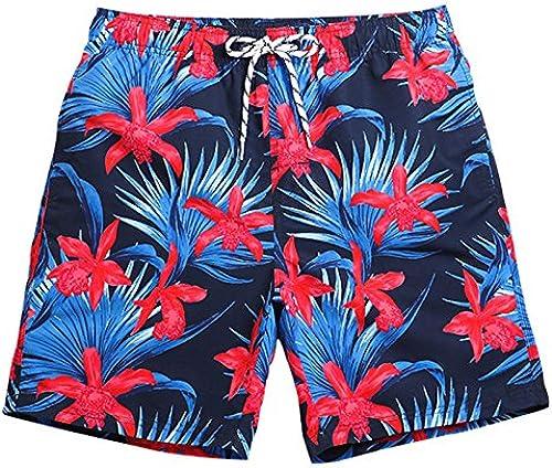 OME&QIUMEI Fast Dry Hot Spbague Resort plage Pantalons Hommes Pantalons courtes Décontracté Lache Cinq Boxer Plage Maillot De Bain