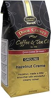 Door County Coffee, Hazelnut Creme, Flavored Coffee, Medium Roast, Ground Coffee, 10 oz Bag