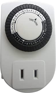 Woods 59888WD Indoor 24-Hour Plug-In Mechanical Timer, 1-Pack, White