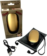 Handi Warmer, Rechargeable, Lithium Ion, Hand Warmer and Device Charger, Power Bank, Includes USB Charger, Wrist Strap, Carrying Pouch and 4 Language Manual, Compatible with iPhone, Samsung, Android