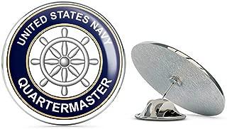 US Navy Quartermaster QM Military Veteran USA Pride Served Gift Metal 0.75