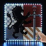 LIGHTAILING Set di Luci con Un Telecomando per (Art Harry Potter Hogwarts Crests) Modello da Costruire - Kit Luce LED Compatibile con Lego 31201(Non Incluso nel Modello)