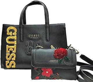 [ゲス]トートバッグ ショルダーバッグ レディース GUESS VE709906 BLACK ブラック スパンコール NEW COLLECTION ゲス 薔薇